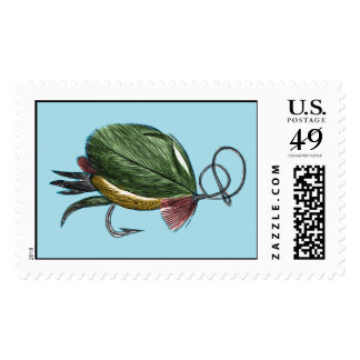 Fly Fishing Art Postage