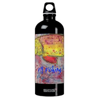 fly fishing art water bottle