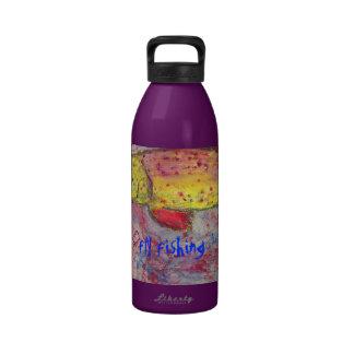 fly fishing art reusable water bottle