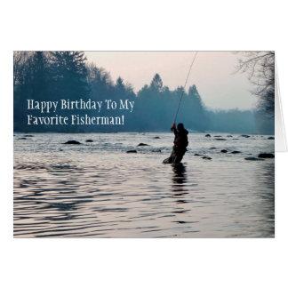 Fly Fishing Birthday Card
