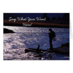 Fly Fishing Blank Greeting Card