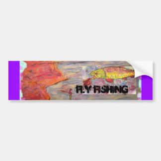 fly fishing car bumper sticker