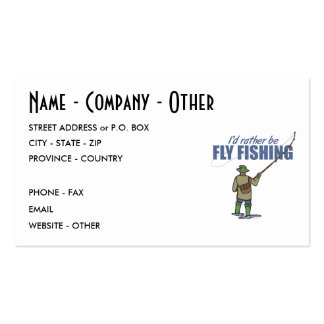 Fly Fishing Business Cards