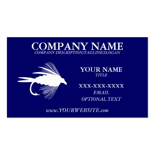 Fly fishing business card template zazzle for Fishing business cards