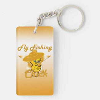 Fly Fishing Chick #10 Double-Sided Rectangular Acrylic Keychain