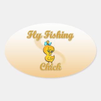 Fly Fishing Chick Sticker