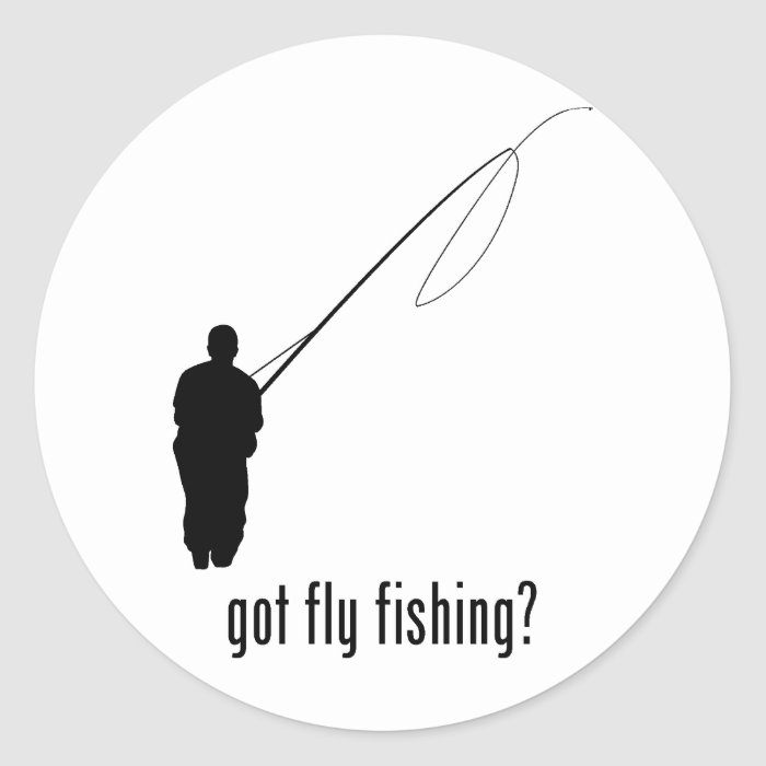 Fly Fishing Classic Round Sticker