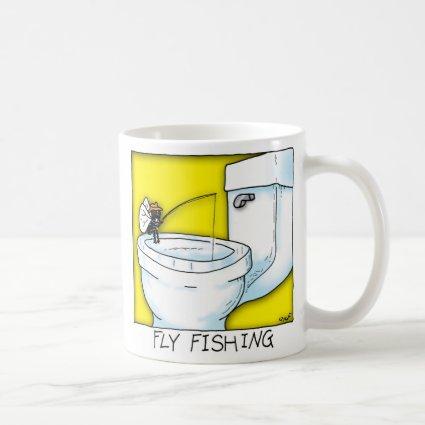 Fly Fishing Classic White Coffee Mug