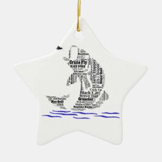 Fly Fishing Custom Gifts & Novelties Ceramic Ornament