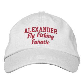 Fly Fishing Fanatic Custom Name Embroidered Baseball Caps