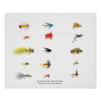 Fly Fishing, Fly Fishing Nymphs, Wet and Dry Fl... Print