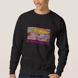 fly fishing folks rock sweatshirt