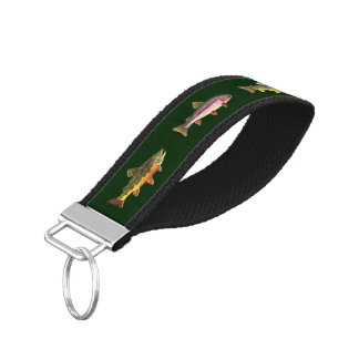 Fly Fishing for Trout - Fisherman's Angler's Wrist Keychain