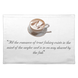 Fly Fishing Gifts Cloth Placemat