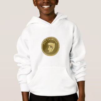 Fly Fishing Gold Coin Retro Hoodie