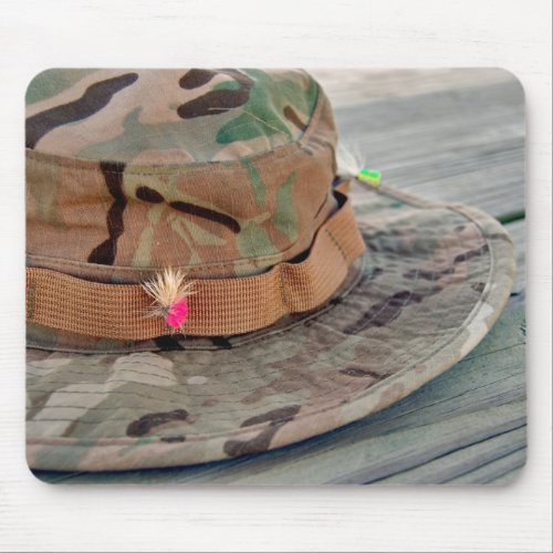 Fly Fishing Hat Mouse Pad