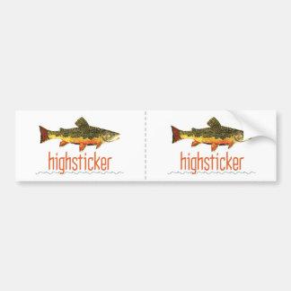 Fly Fishing Highsticker Bumper Sticker