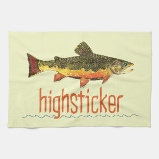 Fly Fishing Highsticking Kitchen Towel