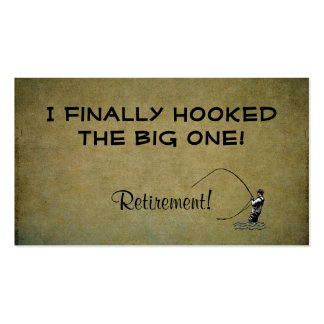 Fly Fishing Hooked Big One | Retirement Contact Business Card