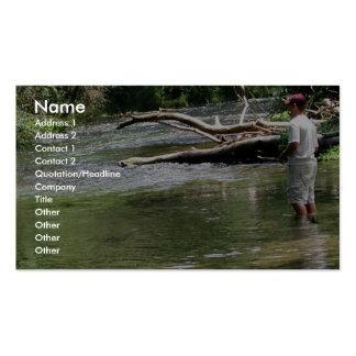 Fly Fishing in Dry Run Creek, Arkansas Business Card Templates