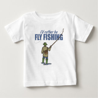 Fly Fishing in Waders Baby T-Shirt