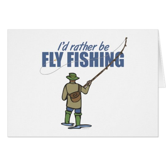 Fly Fishing in Waders Card