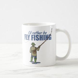 Fly Fishing in Waders Coffee Mugs