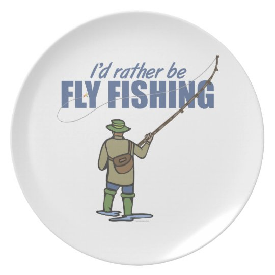 Fly Fishing in Waders Plate