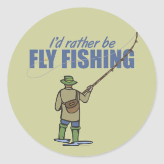 Fly Fishing in Waders Sticker