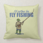 Fly Fishing in Waders Throw Pillow