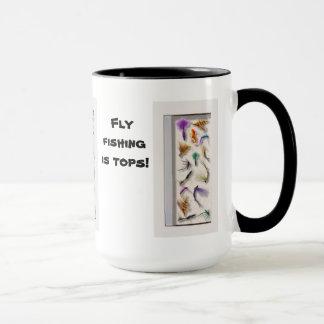 Fly fishing is tops mug