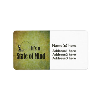 Fly Fishing It s a State of Mind Custom Address Label