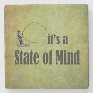 Fly Fishing | It's a State of Mind Stone Coaster
