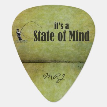 Fly Fishing   It's A State Of Mind Guitar Pick by NaturesPlayground at Zazzle