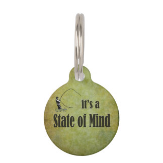 Fly Fishing   It's a State of Mind Pet Name Tag