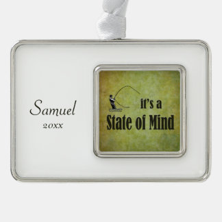 Fly Fishing | It's a State of Mind Silver Plated Framed Ornament