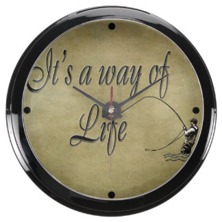 Fly-fishing - It's a Way of Life Aquavista Clock