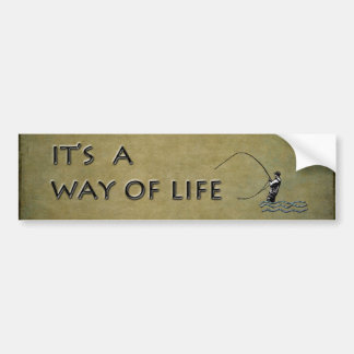 Fly-fishing - It's a Way of Life Bumper Stickers