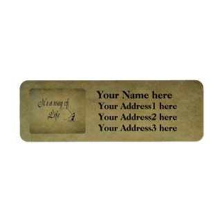Fly-fishing - It's a Way of Life Return Address Label