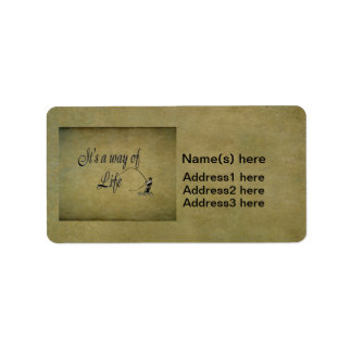 Fly-fishing - It's a Way of Life Address Label