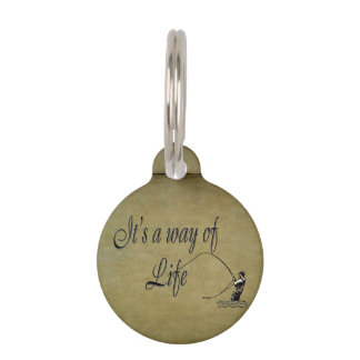 Fly fishing - It's a Way of Life Love Flyfishing Pet Name Tag