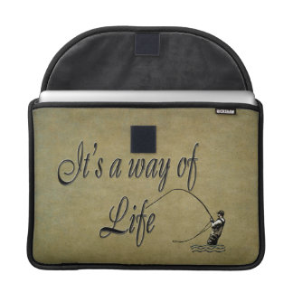 Fly-fishing - It's a Way of Life MacBook Pro Sleeves