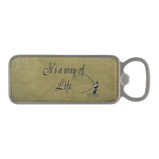 Fly-fishing - It's a Way of Life Magnetic Bottle Opener