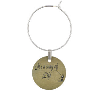 Fly-fishing - It's a Way of Life Wine Charm