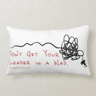 Fly Fishing Leader Throw Pillows