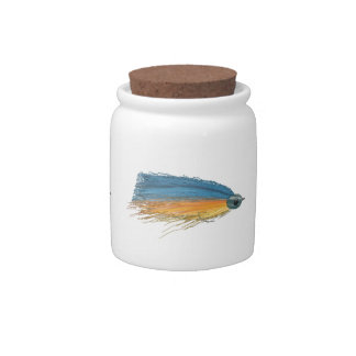 Fly Fishing Lure Art Candy Jar
