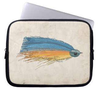 Fly Fishing Lure Art Computer Sleeve