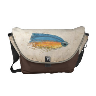 Fly Fishing Lure Art Courier Bag