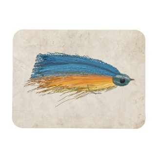 Fly Fishing Lure Art Magnet
