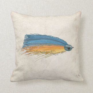 Fly Fishing Lure Art Throw Pillows